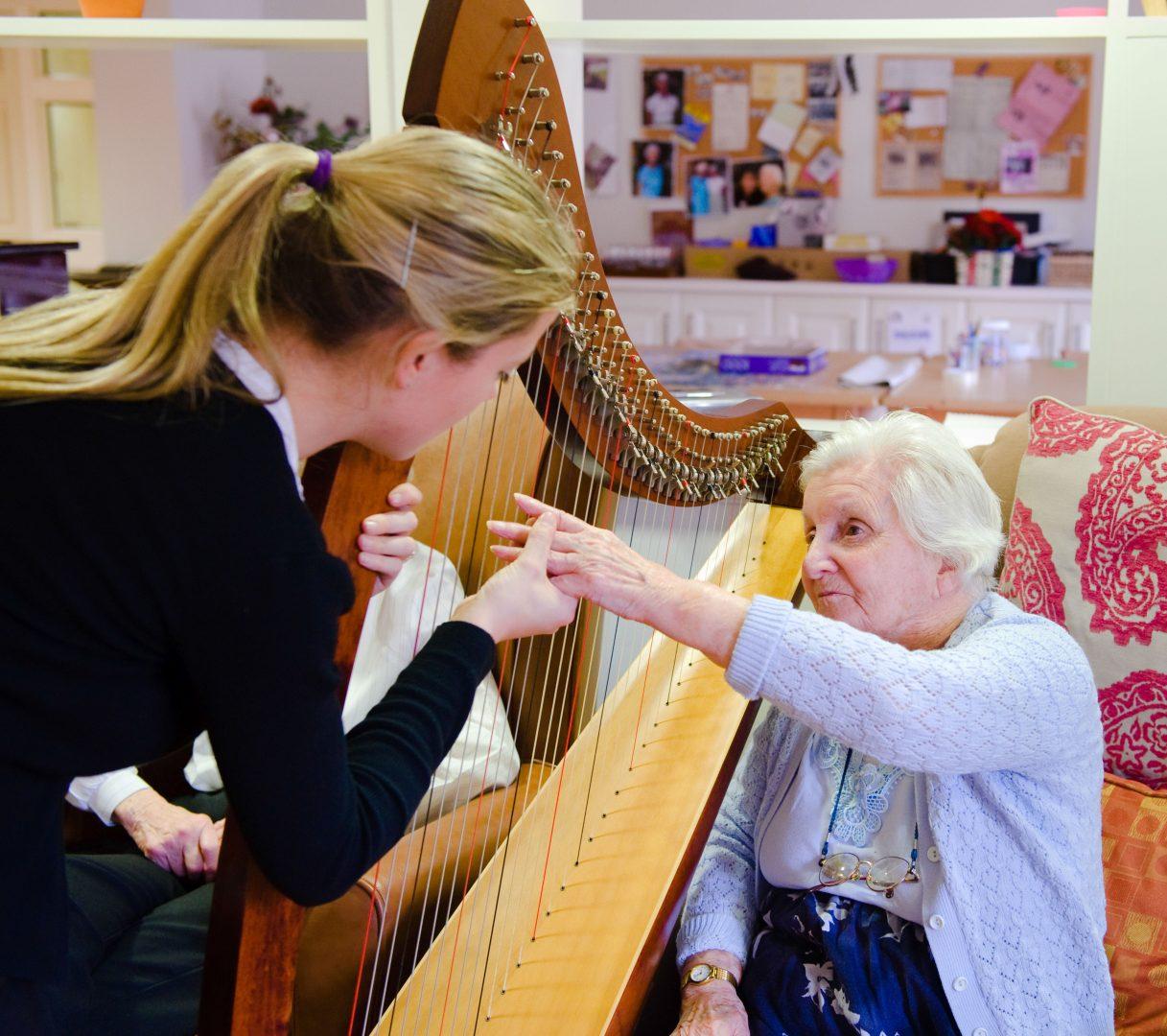 Harp recital played at the Lodge, Buckshaw